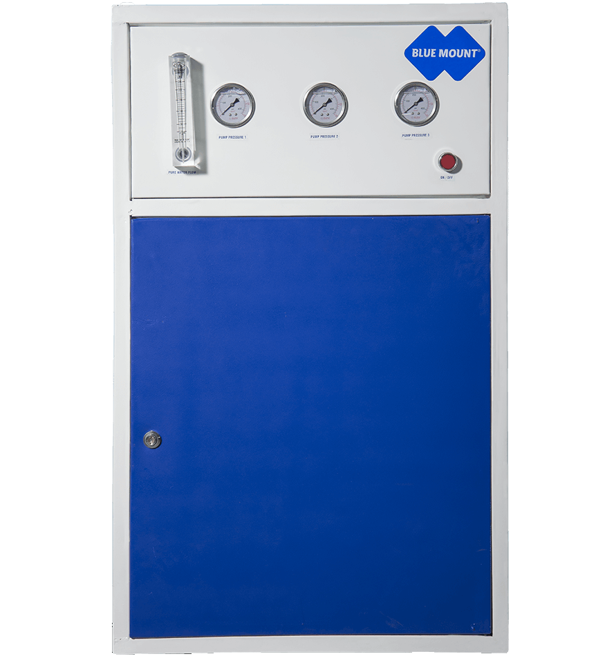 Blue Mount Industrial RO + DM Plant 100 LPH Water Purifier