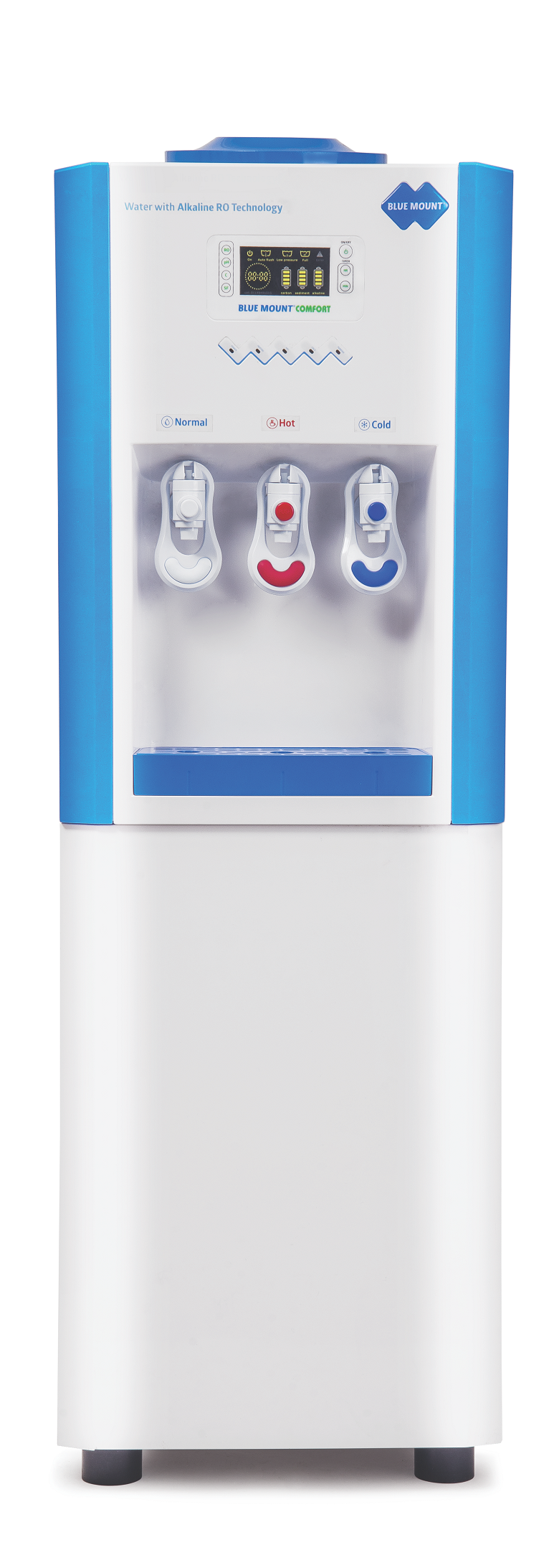 Blue Mount Comfort Alkaline RO + UV + LED with Hot, Cold & Normal Water Purifier