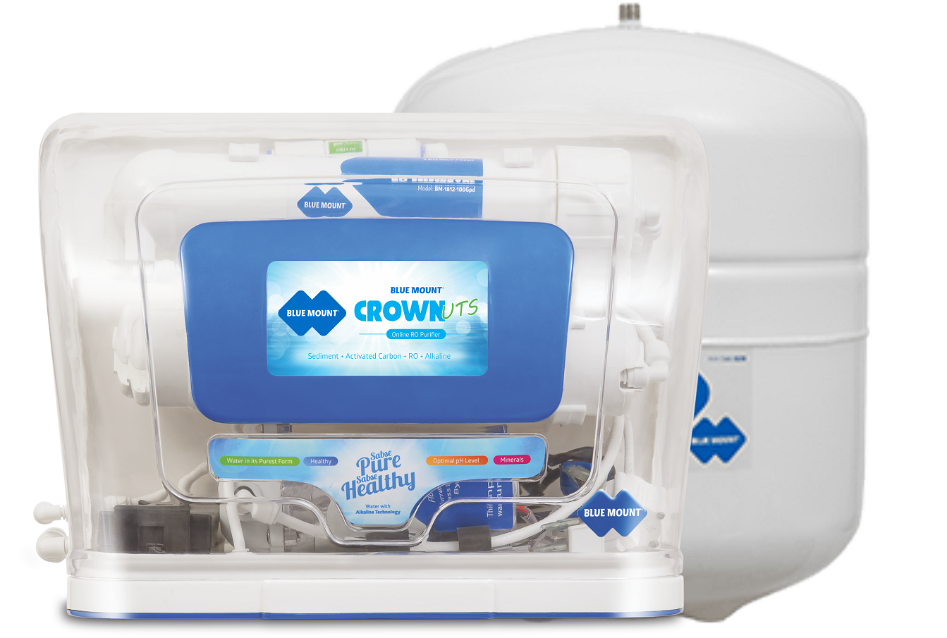 Blue Mount Crown(UTS) RO + UF Water Purifier