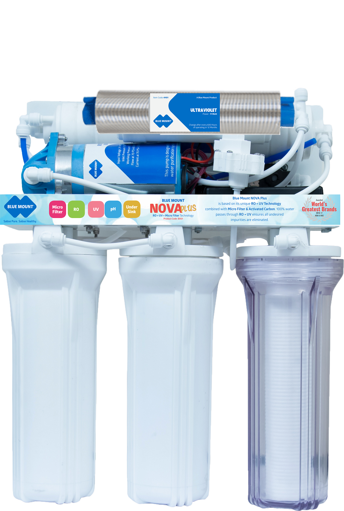 Blue Mount NOVA Plus Alkaline RO + UV Water Purifier