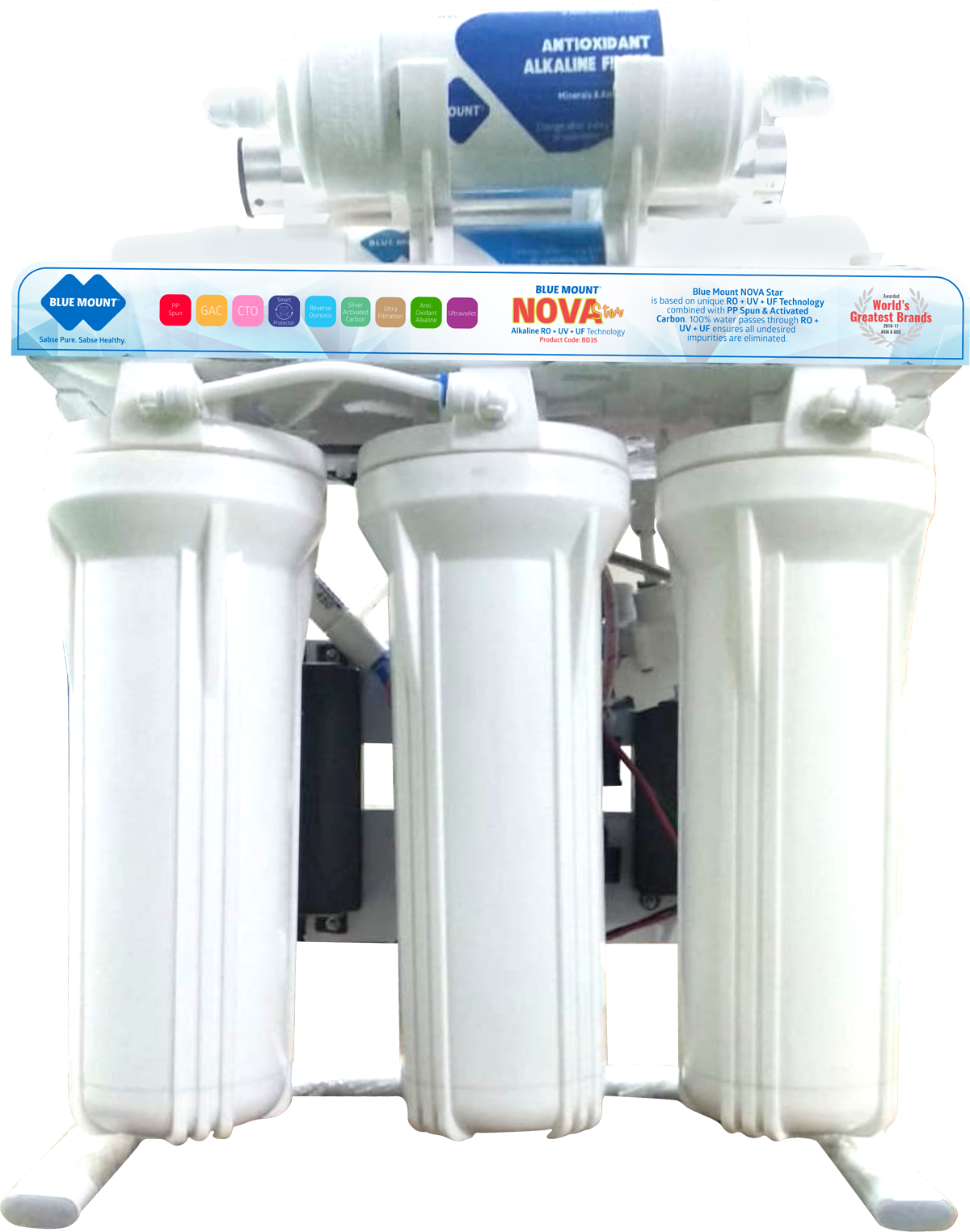 Blue mount Nova Star Alkaine RO + UV + UF Water Purifier