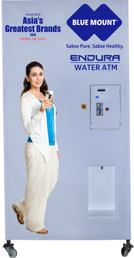 Blue Mount Endura Water ATM 500 Alkaline RO + UV + Chiller Water Purifier