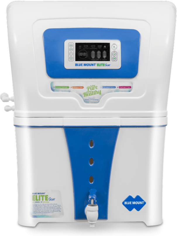 Blue Mount Elite Star Alkaline RO + UV + LED Display Water Purifier
