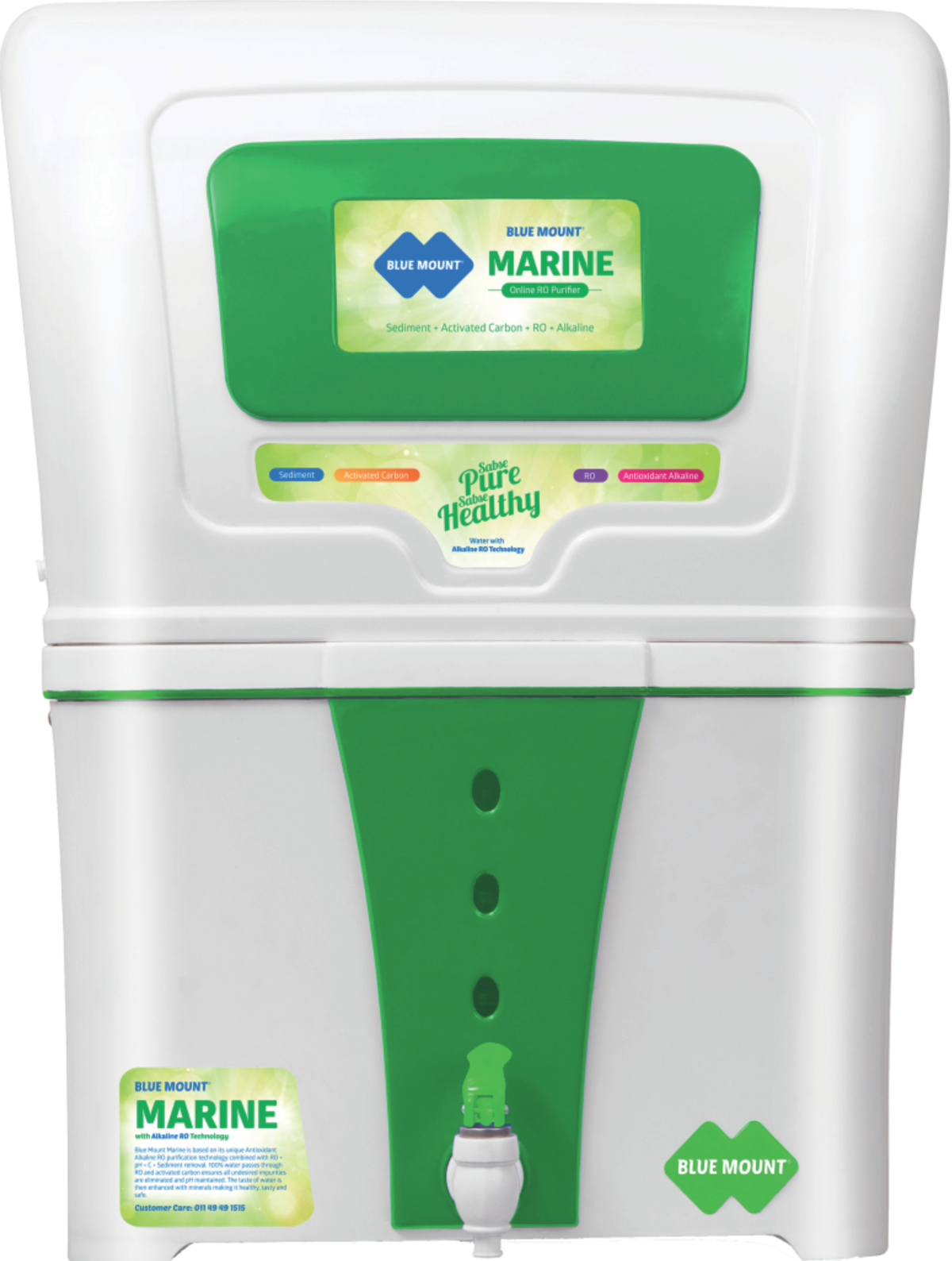 Blue Mount Marine Alkaline RO Water Purifier