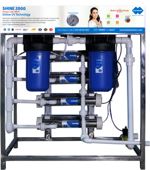 Blue Mount Shine 2000 UV + Silver Boost Water Purifier