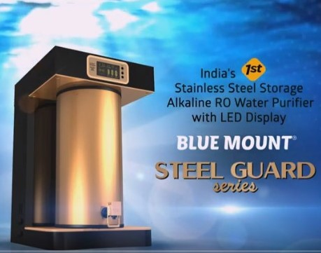 Blue Mount Launch Steel Guard Series OF Alkaline water purifiers