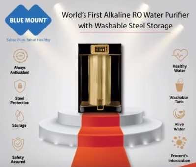 India's 1st Alkaline RO Water Purifier with Washable Steel Storage Tank